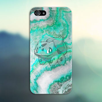 Bulbasaur Green Marble x Stone Phone Case Texture iPhone 6 iPhone 6 Plus Tough iPhone Case Galaxy S7 Samsung Galaxy Case Printed CASE ESCAPE