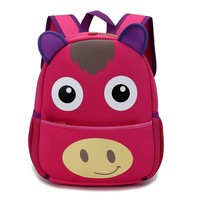 Kindergarten Horse Waterproof Kids Cartoon 3D Toys School Bags Baby Backpack Children School Bag for Girls Boys Mochila Infanti