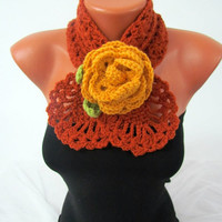Women Accessories -Neck warmers scarf -Crochet Scarf Jewellery - Gift for Mom, Neckwarmer handmade gift- READY TO SHIP
