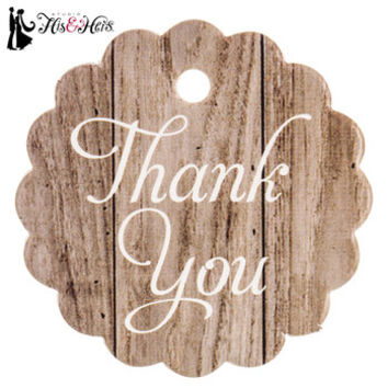Wood Grain Print Scalloped Thank You Favor Tags | Hobby Lobby | 1409580