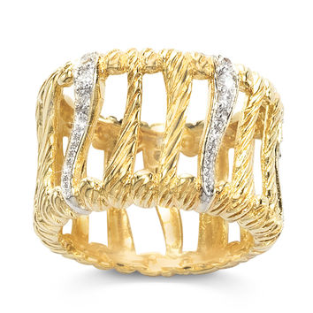 Cubic Zirconia Vogue Band Ring