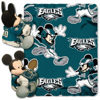 NFL Philadelphia Eagles Mickey Mouse Pillow with Fleece Throw Blanket Set