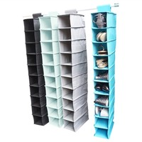 TUSK College Storage - Hanging Shoe Shelves Storage Closet Organizers College Supplies Space Save Hanger Organization Useful