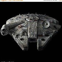 SPECIAL PRE-RELEASE Sale Custom Built and painted 1/72 Bandai Star Wars Millennium Falcon with lights