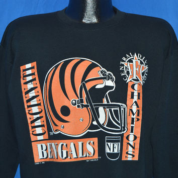 90s Cincinnati Bengals AFC Central Champs Sweatshirt Large