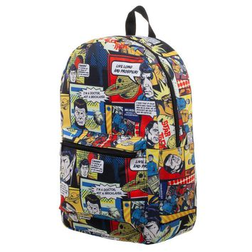 MPBP Star Trek Comic Print Star Trek Backpack Sublimated Backpack - Star Trek Bag gret Star Trek Gift