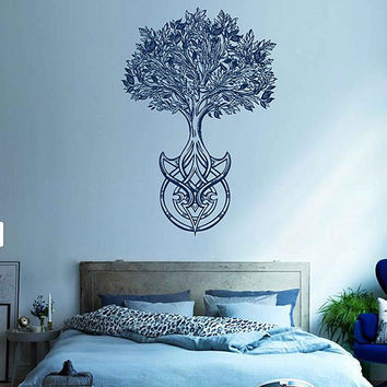 tree of Life wall decals Tree Decor Celtic wall decals for Living Room for Yoga Studio Decor kik3335