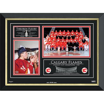 THEOREN FLEURY & THE CALGARY FLAMES STANLEY CUP CHAMPS, LIMITED EDITION 89 OF 89