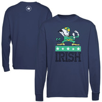Notre Dame Fighting Irish ND Fight Long Sleeve T-Shirt - Navy Blue