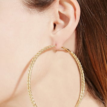 Etched Double Hoop Earrings