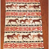 Oversized Lodge Look Towel Rustic Horses Western Country Beach Pool Bath