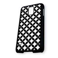 Black White Pattern Chevron Samsung Galaxy S5 Case