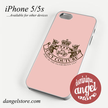 Pink Juicy Couture Phone case for iPhone 4/4s/5/5c/5s/6/6s/6 plus