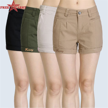 FreeArmy Brand Fashion Female Candy Colored Women's shorts Sexy Women Shorts Casual Cotton 4 Color Choice Shorts GK-9311