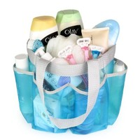 Jemsly High Quality Shower Caddy - Beach Bag - Rustproof - Mesh bag for Bath Accessories