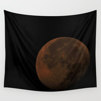 Blood Moon Wall Tapestry by ZLAArtDesigns
