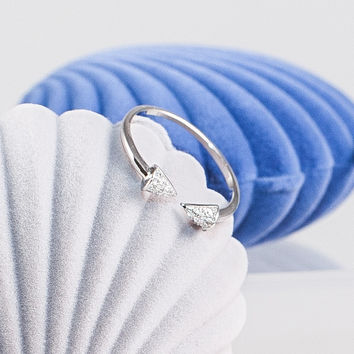 Silver Spike Ring Open-ended