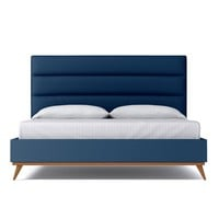 Cooper Upholstered Bed EASTERN KING in BLUEBERRY - CLEARANCE