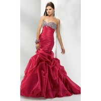 Sheath Strapless Floor-Length Taffeta and Beading Prom Dress SSC0336