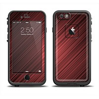 The Red Diagonal Thin HD Stripes Apple iPhone 6 LifeProof Fre Case Skin Set