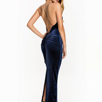 Tight Velvet Slit Dress, NLY Eve
