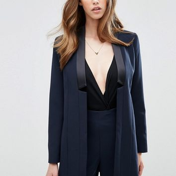 ASOS Longline Tux Jacket at asos.com