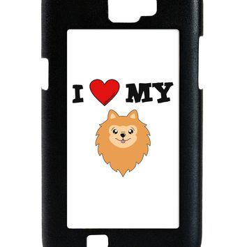 I Heart My - Cute Pomeranian Dog Galaxy Note 2 Case  by TooLoud