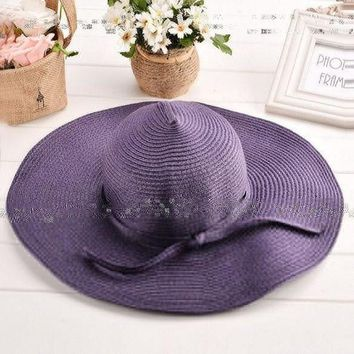 PEAP78W Promotion ! Sun Hats for Women New Fashion Women's Summer Foldable Big Wide Brim Straw Hats Beach Headwear 4 Colors 30