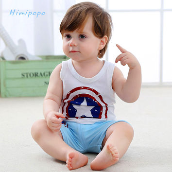 HIMIPOPO Baby Boys Clothing Sets Cartoon Tracksuits Summer Children Clothes Sport Infant kid Suits Cotton Vest and Pants