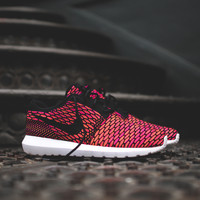 NIKE Flyknit Roshe Run QS - Black / Fireberry / Total Orange - Email Orders