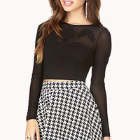 Elegant Mesh Crop Top