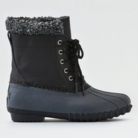 AEO Sherpa Cuff Duck Boot , Black