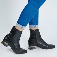 AUBERGINE Perpsex Heeled Boots - Shoes