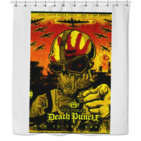 Five finger Death punch shower curtain