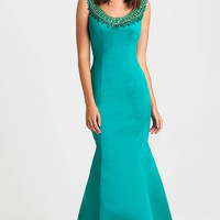 Long Madison James Dress with Mermaid Skirt
