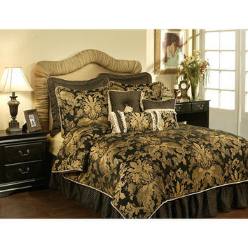Pacific Coast Home Furnishings Inc. LIS320830-CK Austin Horn Classics Lismore Black Four-Piece California King Bedding Collection - (In No Image Available)