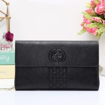 VONE05I Gucci Women Fashion Leather Wallet Purse