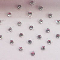 58 Dots Stick On Fake Nose Studs/Silver Fake Nose Labret Monroe Ear Studs/Self A