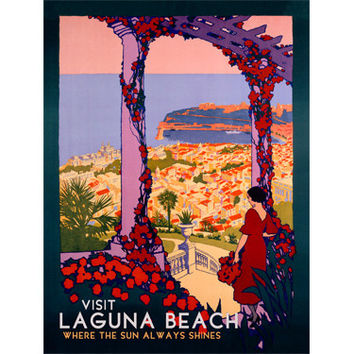Personalized Visit Laguna Beach Wood Sign