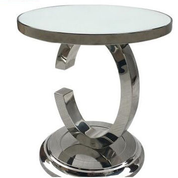 Stainless steel Angle several sofa. Small tea table to move north European metal side table