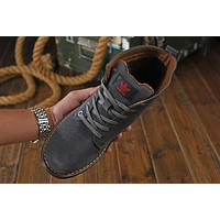 Adidas: winter with velvet Boots, leather cowhide high Boots-1