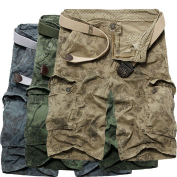 Camouflage Training Summer Cotton Shorts [10241476931]