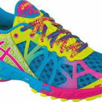 ASICS Women's Gel-Noosa Tri 9 ~ Running Shoes ~ Capri Blue/Raspberry/Lime