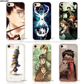 BiNFUL harry potter dream magic Hard Transparent Phone Case Cover Coque for Apple iPhone 4 4s 5 5s SE 5C 6 6s 7 Plus