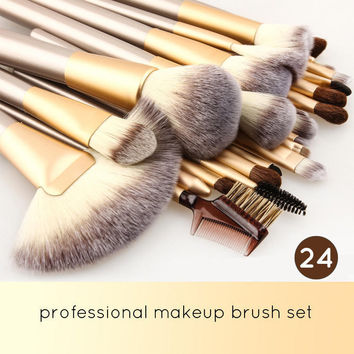 24pcs Cosmetic Brushes