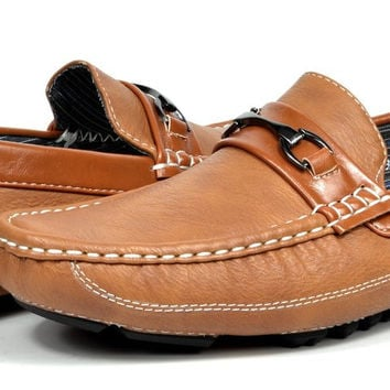 PEPE-3 Bruno HOMME MODA ITALY Men's Fashion Driving Casual Loafers Boat shoes Tan 7 D(M) US '