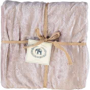 Mink Embossed Fleece Blanket 127x177cm - Throws & Blankets - Home Furnishings - Home - TK Maxx