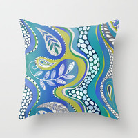 Patterned Nature 2 Throw Pillow by Janet Broxon | Society6