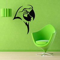 Parrot Wall Decals Bird Stickers Pets Birds Animals Vinyl Decal Sticker Living Room Decor Home Art Mural Kids Room Interior Design KG399