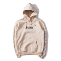 Street men's tide brand Justin Bieber Purpose Hooded sweater men